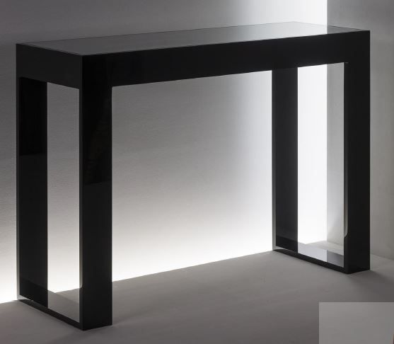 Acryl Konsole mit Glaseinlage stabil