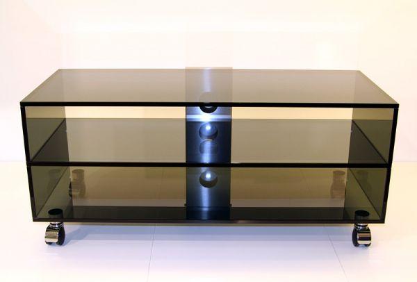 Glass Concept Mid Roll 2-StockTV-Möbel Fernsehwagen