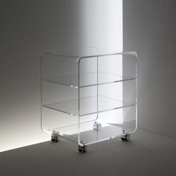 Acryl Hifi-Rollcontainer Softline Korpus stabil