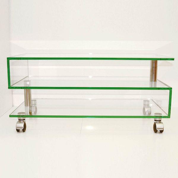 Glass Concept Mid Roll S TV-Möbel rollbar