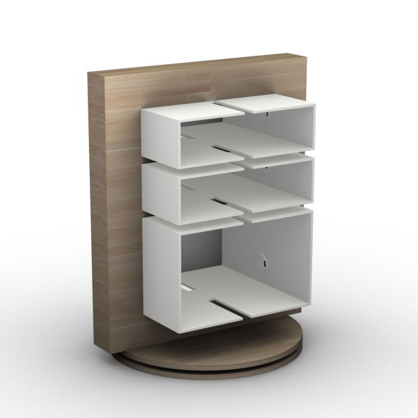 LUKE Furniture HiFi-2 Hifi-Rack mit 3 Fächern