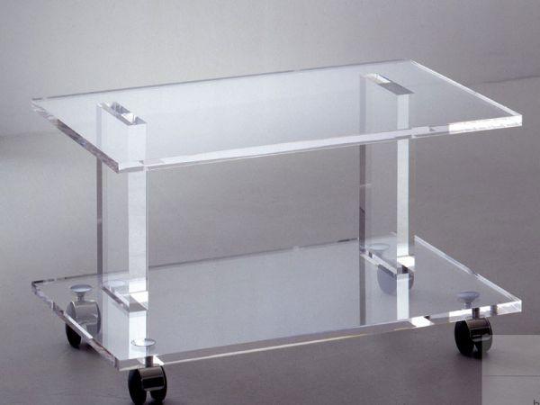 Acryl TV-Rollcontainer für schwere Geräte