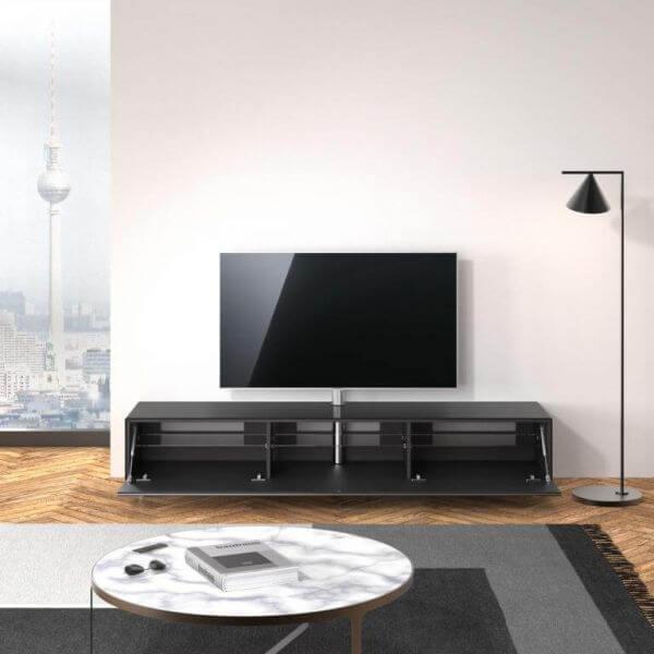 Just Racks JRL2000T-BG | Breite 200 cm TV-Möbel Schwarz