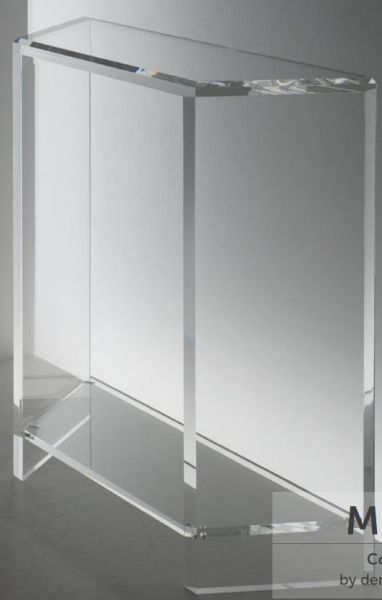 Acryl TV-Konsole mit Fachboden