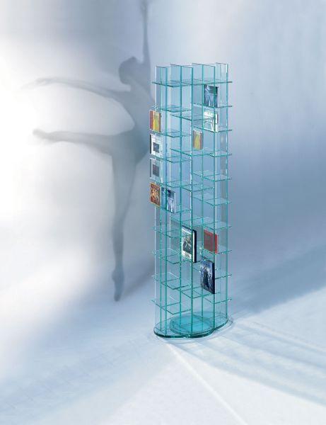 Schroers & Schroers CD40 / DVD 14 Glasmöbel drehbar