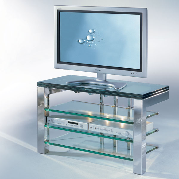 Design tv möbel glas