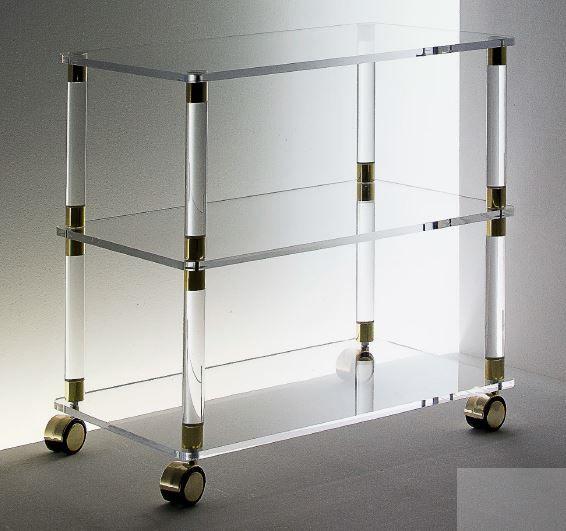Acryl Deco-Rollwagen offen mit 3 Ebenen
