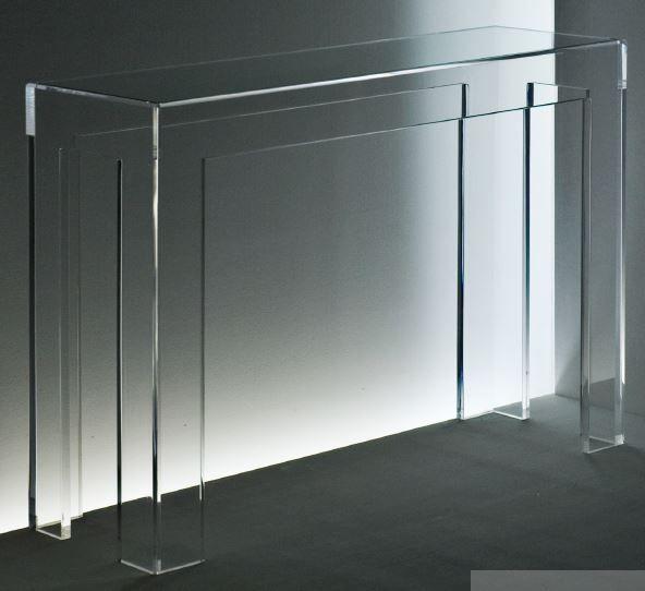 Acryl Konsole mit Glaseinlage