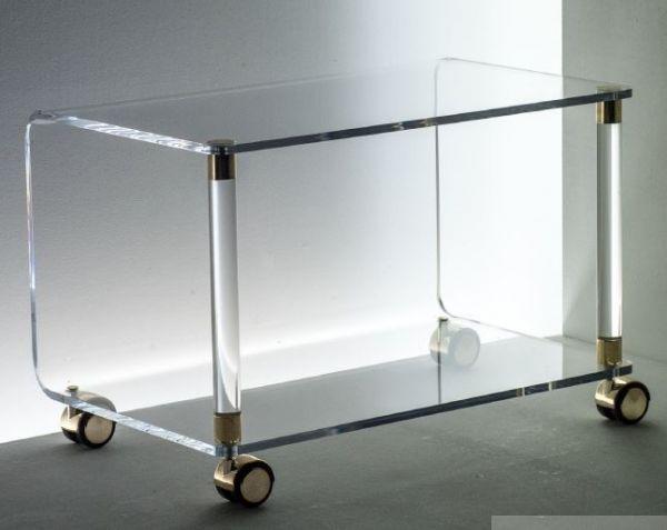 Acryl Deco-Rollwagen halboffen