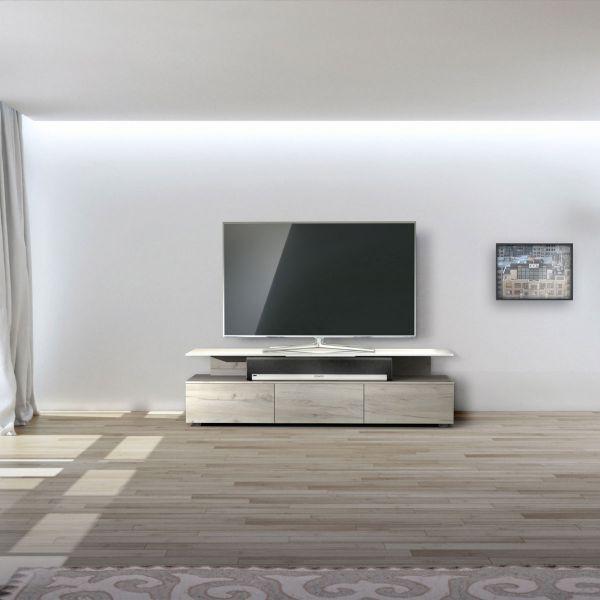 Just Racks JRM1650-NO TV-Möbel Farbe Natural Oak